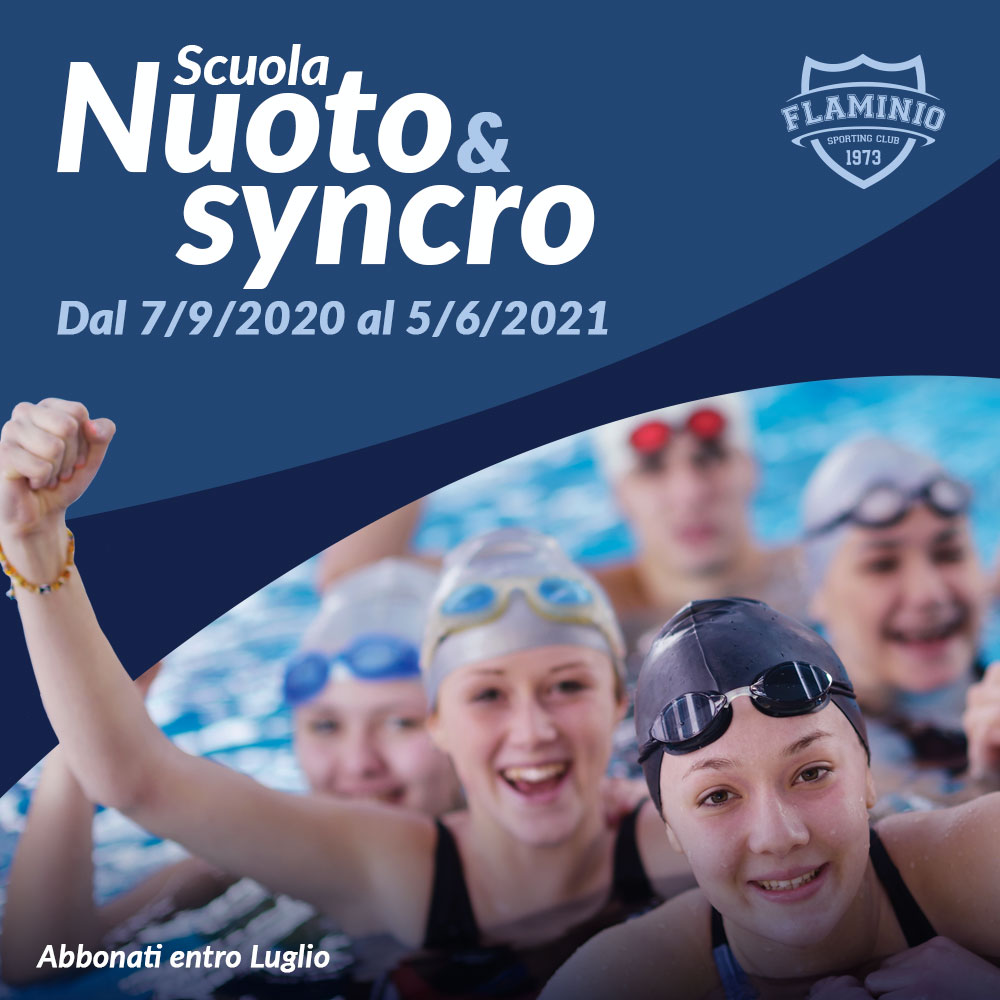 Scuola Nuoto & Syncro - Dal 7 Settembre 2020 al 5 Giugno 2021